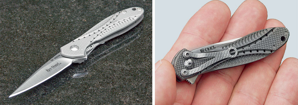 Авот CRKT Eros 2c 2-дюймовым (51-мм) клинком— это уже типичная игрушка. Иметь такой приятно. Похвастаться перед дамами— тоже. Ночто можно реально делать таким ножичком— очень большой вопрос