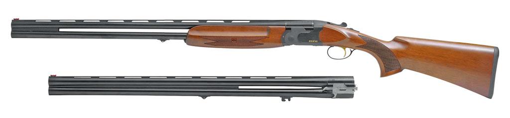 Ружьё SP Combo с двумя блоками стволов: один в калибре 12/76, второй 20/76. Длина стволов 760 мм