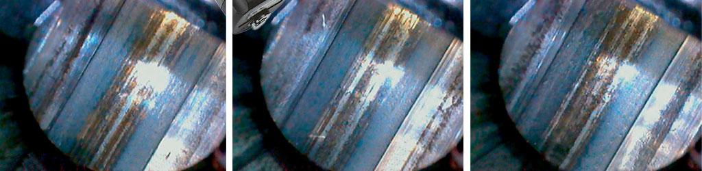 Ствол СВ-98 после чистки. Видно, что еще остались небольшие следы омеднения