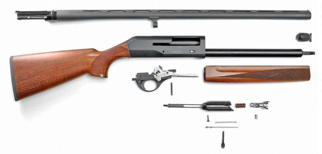 Части и механизмы ружья при неполной разборке
