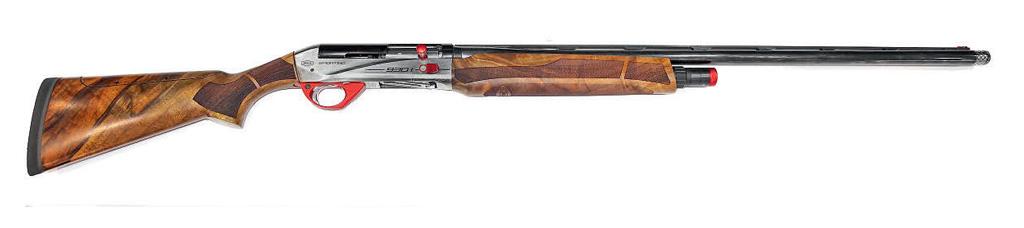 Впоследнее время самозарядные ружья всё чаще встречаются уже ивкачестве глубоко специализированных спортивных ружей для различных упражнений стендовой стрельбы. Наснимке: новая модель Breda 930i — истинно спортивное ружьё сцелым рядом технических новинок