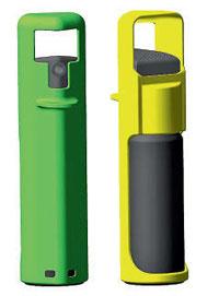 Газовый баллончик–брелок может носиться на связке ключей
