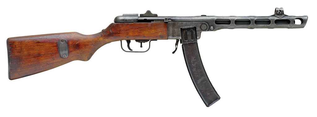 Пистолет-пулемёт Шпагина с коробчатым магазином, журнал Калашников