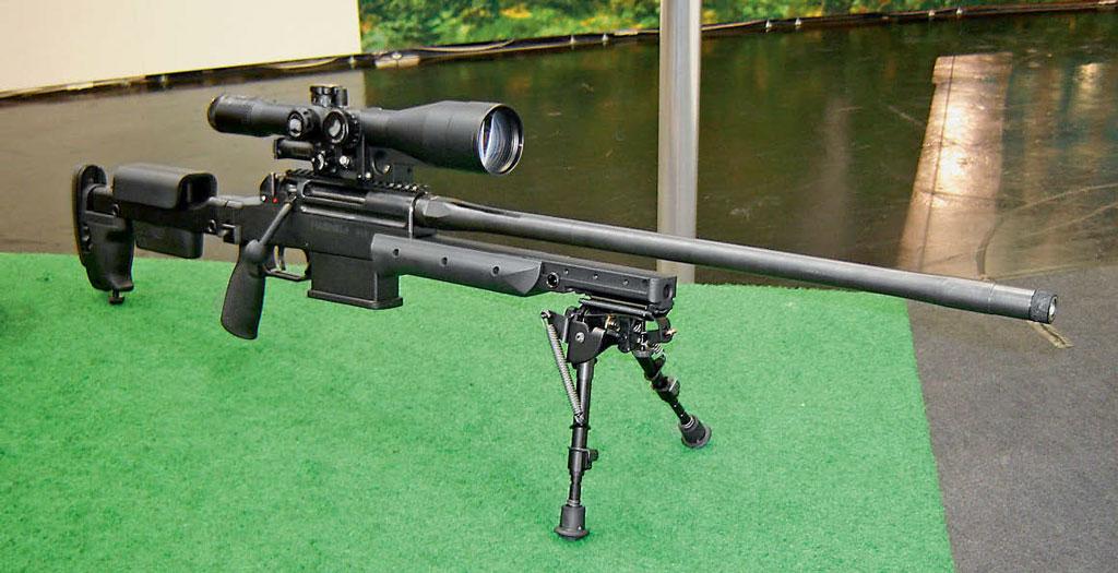 Прообраз винтовки G29 был разработан в2008г. ивпервые был представлен навыставке IWA 2009в Нюрнберге. Сначала это был вариант Haenel RS8 под патрон .308Win., азатем последовала модель Haenel RS9 калибра .338 Lapua Magnum. Фото автора