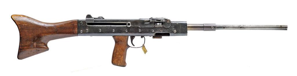 7,62-мм лёгкий пулемёта ЛАД №1. Основание мушки сдульным устройством исошками отсутствует