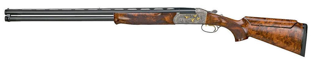 Ружья сзапиранием «капюшоном» посхеме Петрика стали первыми массово используемыми воружии для стендовой стрельбы. Перед нами ружьё Krieghoff K-80, построенное потакой схеме иотносящееся коружию, предназначенному для стрелков высокого класса