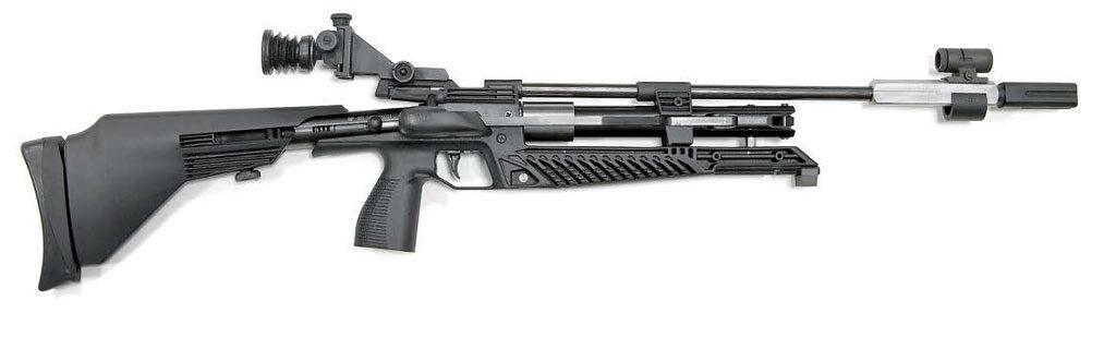 В винтовке с одноразовой накачкой «Марлин» можно без труда узнать характерные черты старой доброй пружинно-поршневой ИЖ/MP-60, более молодой компрессионной MP-532 и совсем новой газобаллонной MP-553