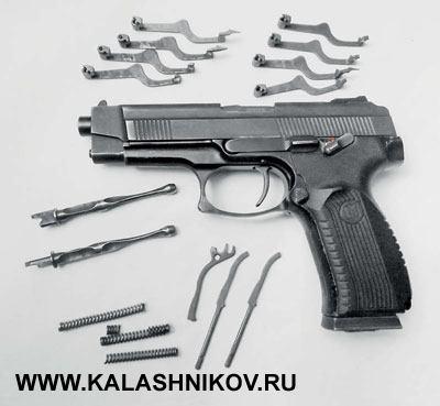 Детали, вышедшие изстроя затри года эксплуатации десятка пистолетов «Викинг»