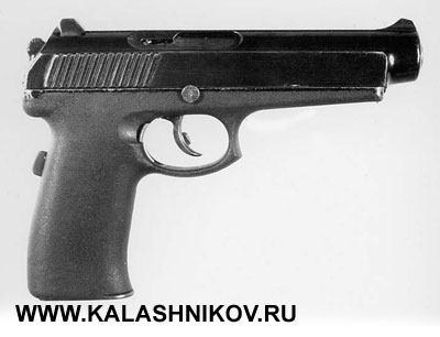 Прототип пистолетов СР-1 иСПС— 9-мм пистолет «Грач» 6П35 конструкции П.И.Сердюкова под патрон 9×21