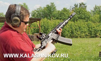 Исполнительный директор ООО «Молот оружие» Роман Букарев настрельбище соспортивным «Вепрём»