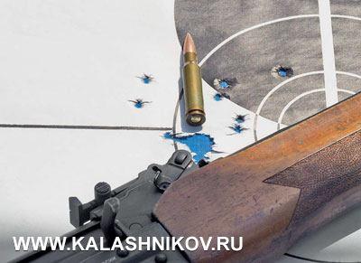 Результаты стрельбы изкарабина «Вепрь-308» сполигональным стволом. 100м, 10выстрелов, механический прицел, настрел карабина около 10000выстрелов. Полигональные «Вепри» уже сертифицированы ипоявятся впродаже виюле-августе