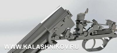 Общий вид возможной компоновки механизмов ружья с перспективной системой запирания