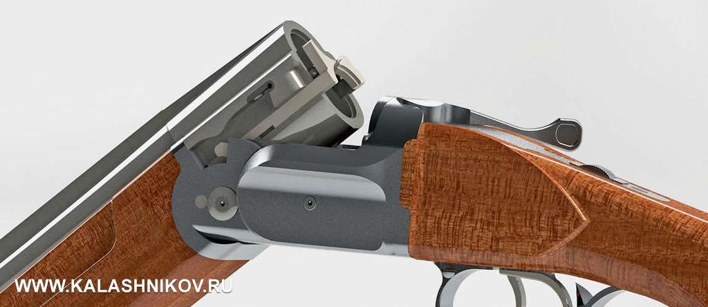 Новая конструкция системы запирания делает коробку ружья легко узнаваемой вследствие применения наней боковых приливов Ронже, что само посебе открывает широкие возможности для дизайнеров