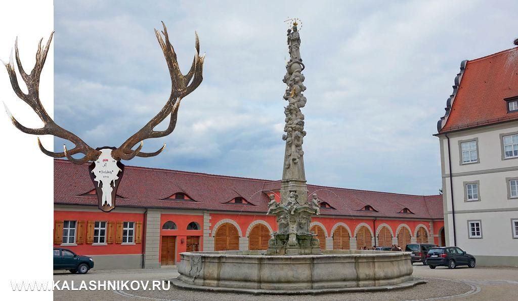 Один из внутренних двориков замка Эттинген