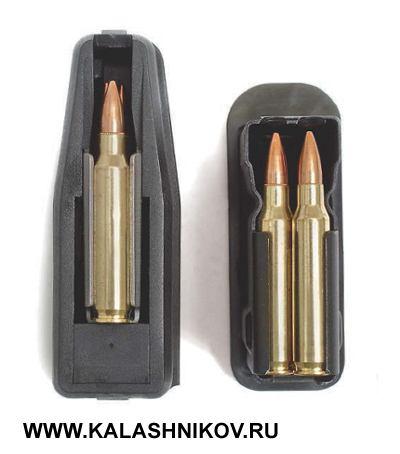 Магазин «Орсиса» (слева) вмещает всего 3патрона, тогда как «Барс» даёт возможность стрелку произвести 7выстрелов досмены вмагазине (+1в патроннике, если нужно). При этом снаряжение магазина «Орсиса» крайне неудобно— эту особенность отметили все без исключения стрелки, привлечённые кпроверке эргономики карабинов