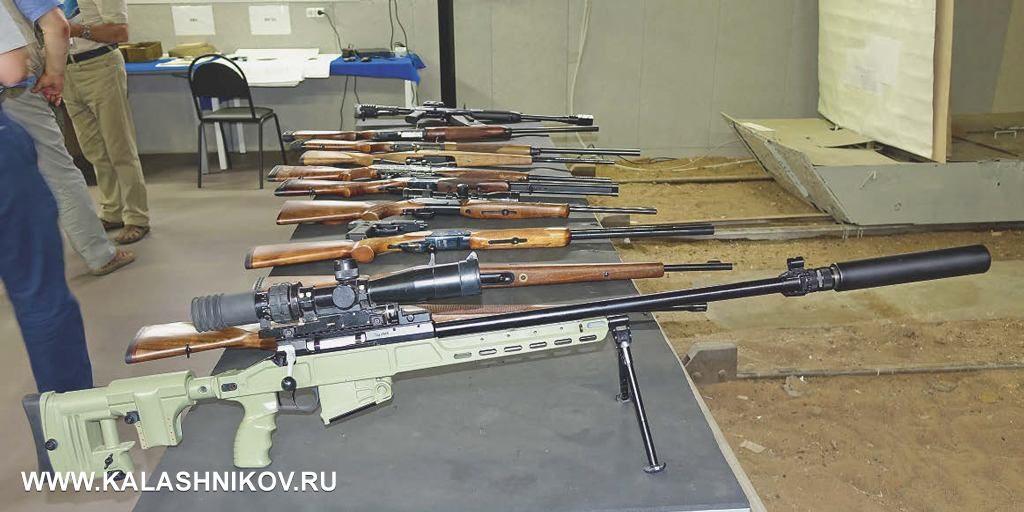 Оружие, представленное для стрелкового тестирования в тире