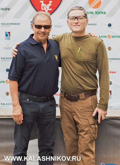 Генеральный секретарь Международной конфедерации практической стрельбы Алан Джоли ипредседатель ЦСФПСР Анатолий Кондрух