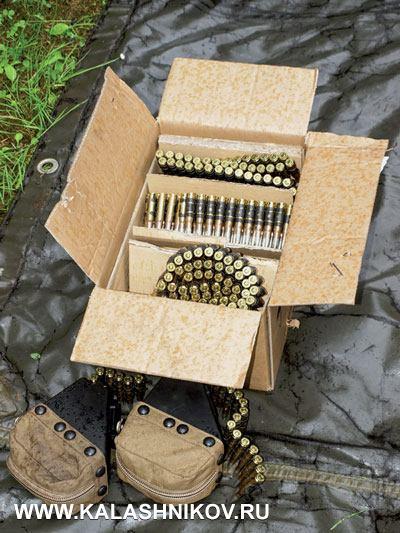 Во время тестовых стрельб мы пользовались патронами, упакованными в ящики