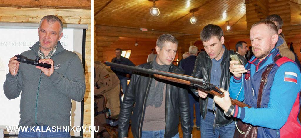 Вцентре внимания слушателей были две новинки: двуствольное ружьё свертикальным расположением стволов Blaser F16 иновая линейка оптических прицелов Swarovski 8Zi c8-кратным зумом