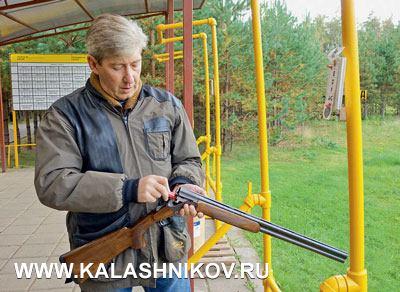 Пробная стрельба на стенде по летящим мишеням показала что большая часть представителей торговой сети из регионов владеет неплохими навыками стрельбы