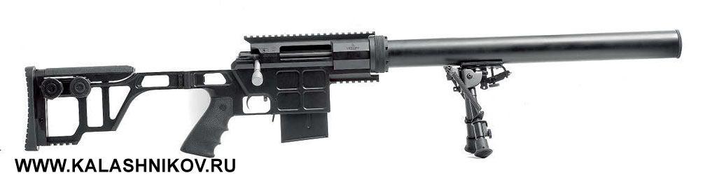 Магазинная винтовка DVL-10M1 «Диверсант» производства КБИС (торговая марка Lobaev Arms). Калибр .308Win., вместимость магазина 10патронов, приклад складывающийся. Вгражданском исполнении винтовка комплектуется имитатором глушителя. Из-за длинного приёмника с«Диверсантом», как ис«Урбаной», невозможно использовать короткие магазины на5патронов