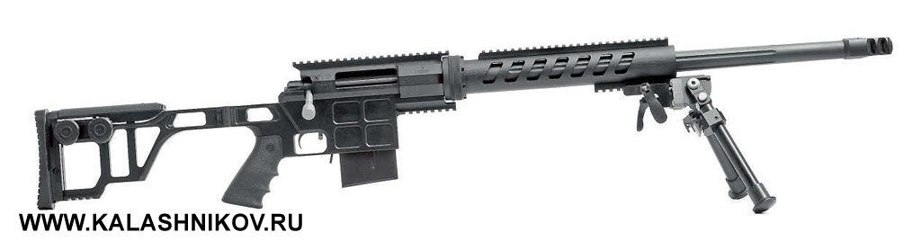 Магазинная винтовка DVL-10M2 «Урбана» производства КБИС (торговая марка Lobaev Arms). Калибр .308Win., вместимость магазина 10патронов, приклад складывающийся