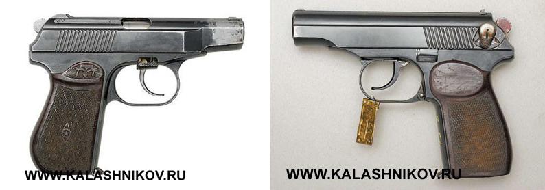 Пистолеты Макарова 1947г. и 1948г.. Фото журнала «Калашников»