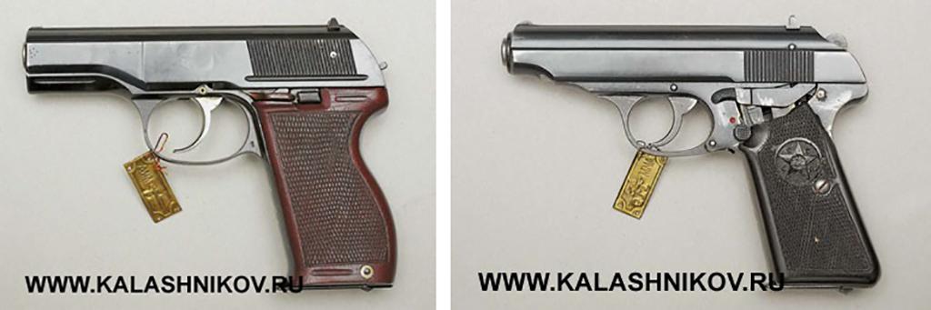 Пистолеты Барышева и Севрюгина 1948г.. Фото журнала «Калашников»