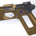 Проект пистолетной рамки с интегрированным ЛЦУ