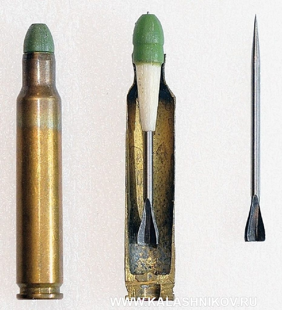 Опытные стреловидные подкалиберные патроны Ирвина Бэра по патентам 1954 г. Иллюстрация к статье в журнале «КАЛАШНИКОВ»