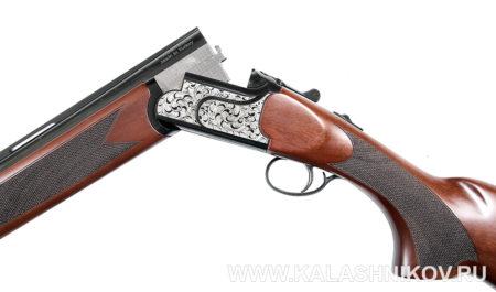 Охотничье ружьё Kral M27Е вид с открытыми стволами.