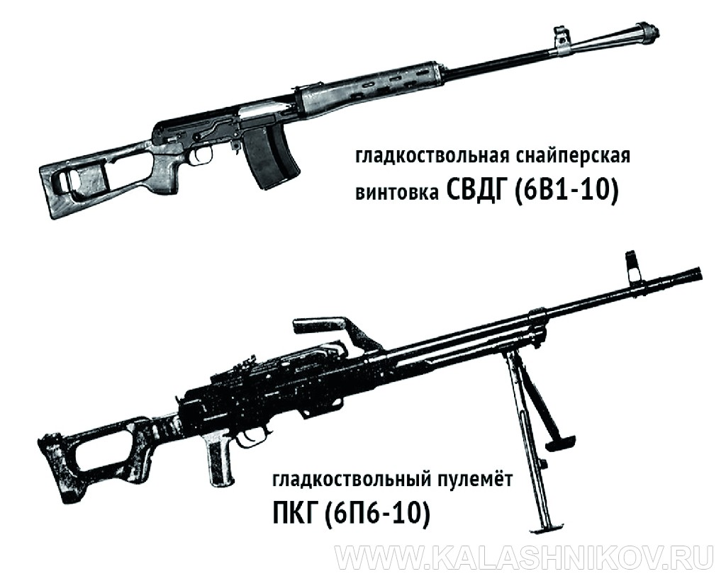 СДВГ (6В1-10) и ПКГ (6П6-10). Иллюстрация к статье в журнале «КАЛАШНИКОВ»