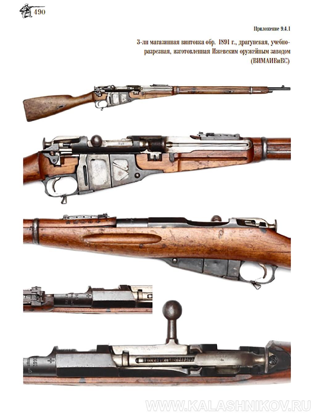 Страница с фотографиями редких экземпляров 3-лн винтовки Мосина из книги Р.Н. Чумака «3-лн винтовка Мосина». Иллюстрация к статье в журнале «КАЛАШНИКОВ»