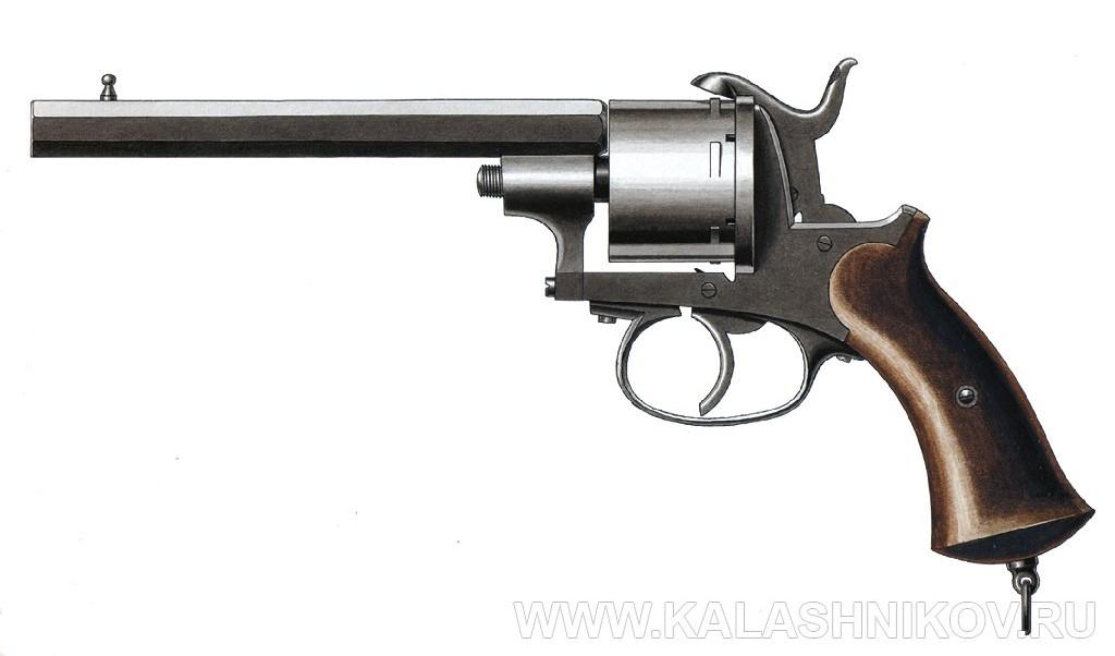 Шпилечный револьвер Лефоше. Иллюстрация к статье в журнале «КАЛАШНИКОВ»