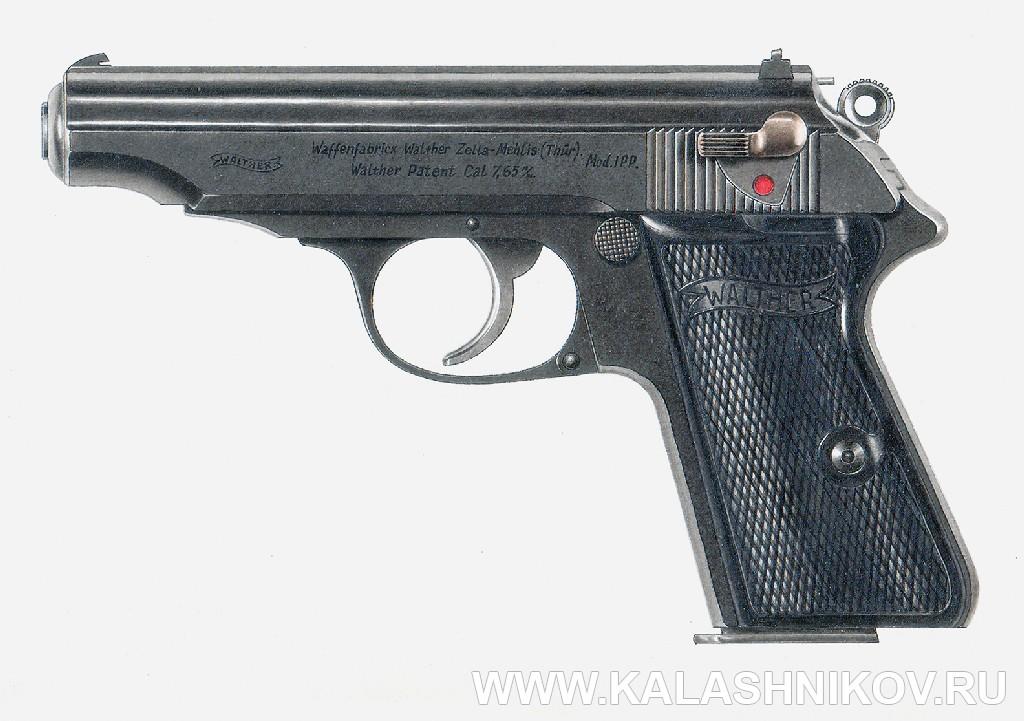 Рисунок пистолета Вальтера РРмод.1929года. Иллюстрация к статье в журнале «КАЛАШНИКОВ»
