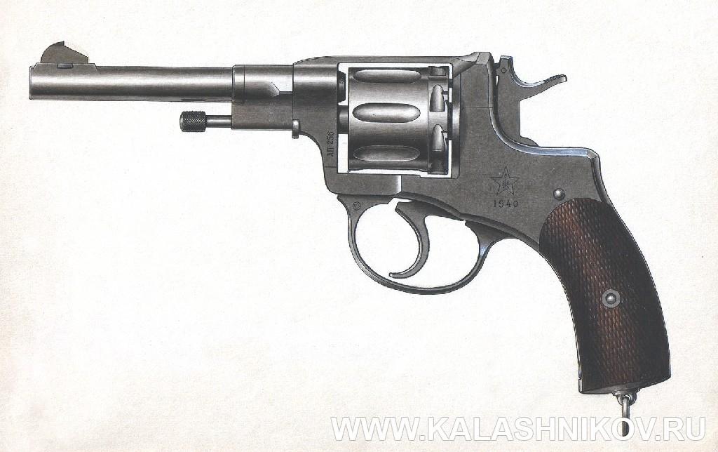 Рисунок револьвера Нагана обр.1895г. Иллюстрация к статье в журнале «КАЛАШНИКОВ»
