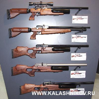 Новые PCP-винтовки Kral Puncher. Иллюстрация к статье в журнале «КАЛАШНИКОВ»