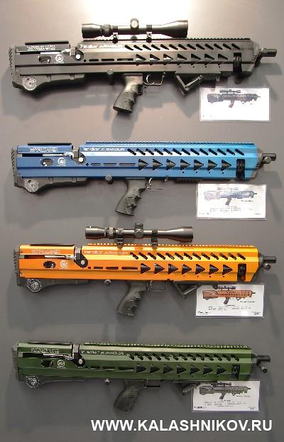 Puncher Armour в четырех вариантах отделки. Иллюстрация к статье в журнале «КАЛАШНИКОВ»