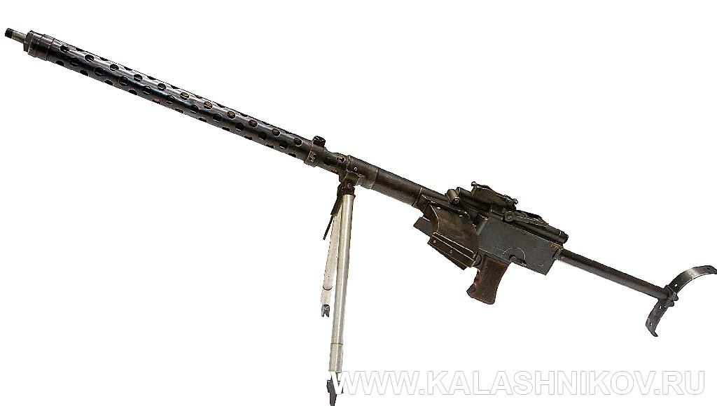 Пулемет «Дрейзе», вид слева. Иллюстрация к статье в журнале «КАЛАШНИКОВ»