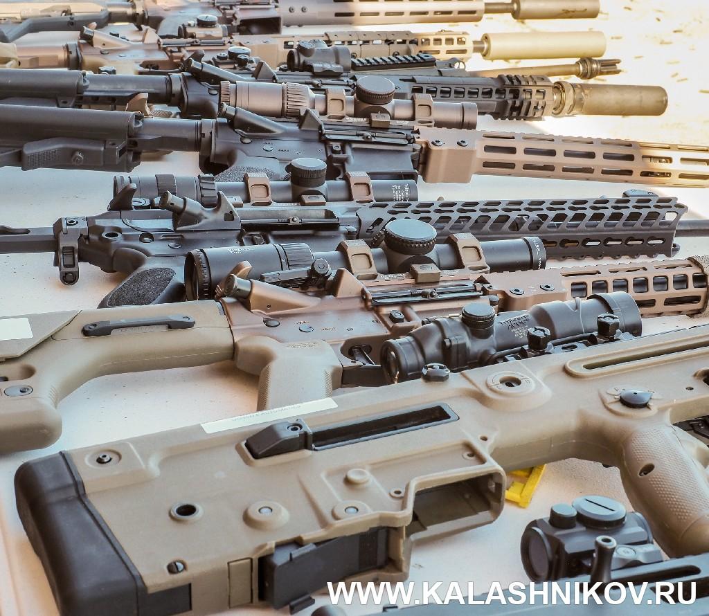 Многообразие винтовок на Shot Show. Иллюстрация к статье в журнале «КАЛАШНИКОВ»