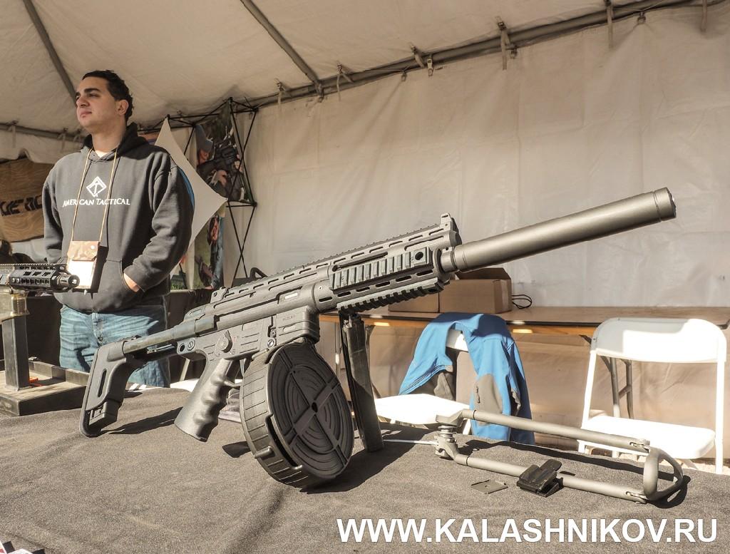 Малокалиберная автоматическая винтовка калибра .22 LR. Иллюстрация к статье в журнале «КАЛАШНИКОВ»