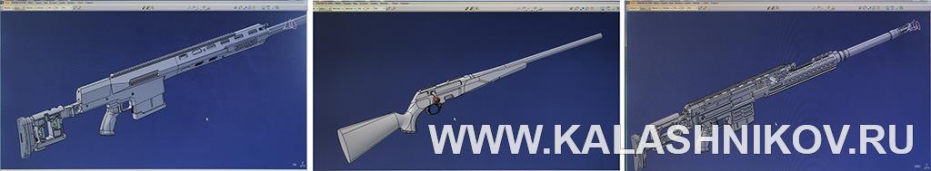 Снимки экранов в конструкторском бюро «Лобаев армс». Фото из журнала «Калашников»