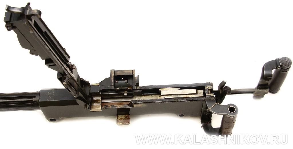 Пулемёт Силина с открытой крышкой. Фото из журнала «Калашников»
