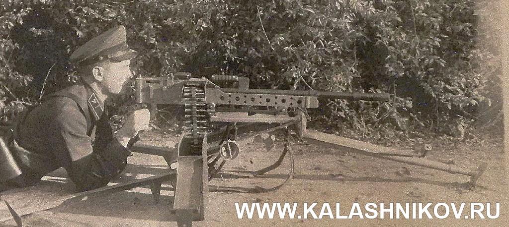 Пулемёт Любимова на станке. Фото из журнала «Калашников»