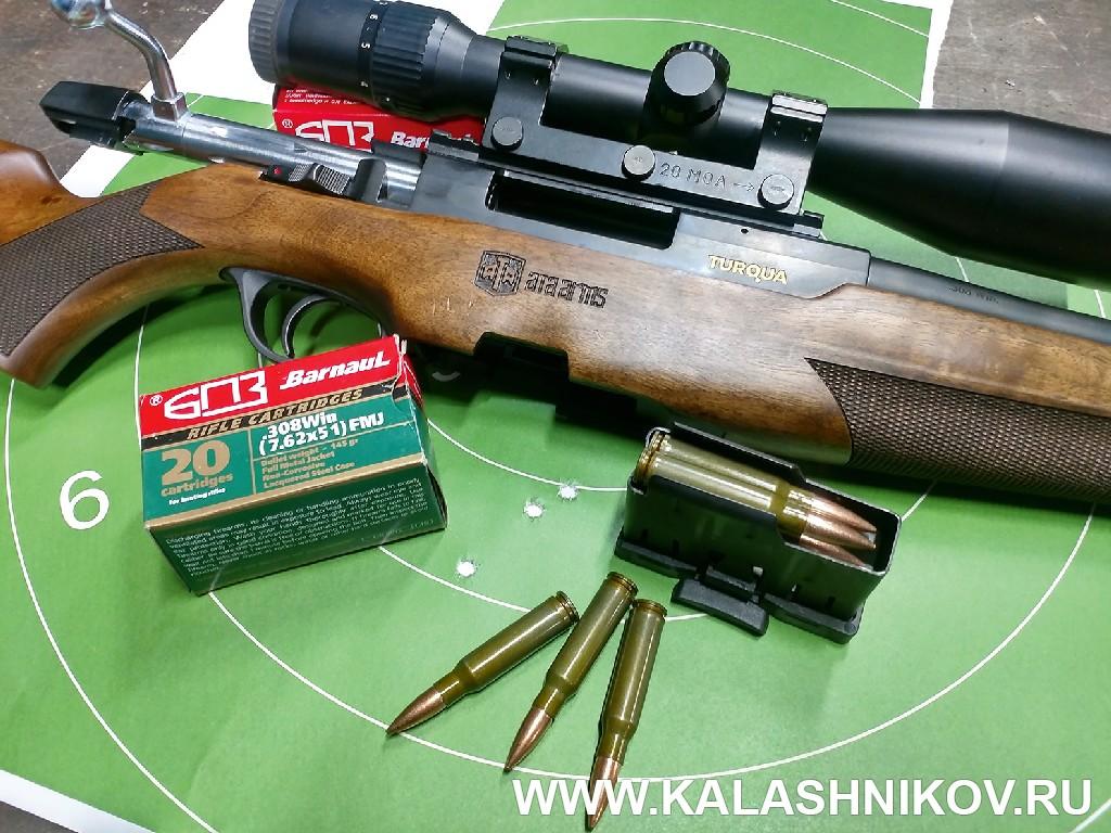 Результаты стрельбы из карабина ATA Arms Turqua Максима Степанова. Фото из журнала «Калашников»