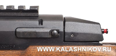 Кнопка извлечения затвора карабина ATA Arms Turqua. Фото из журнала «Калашников»