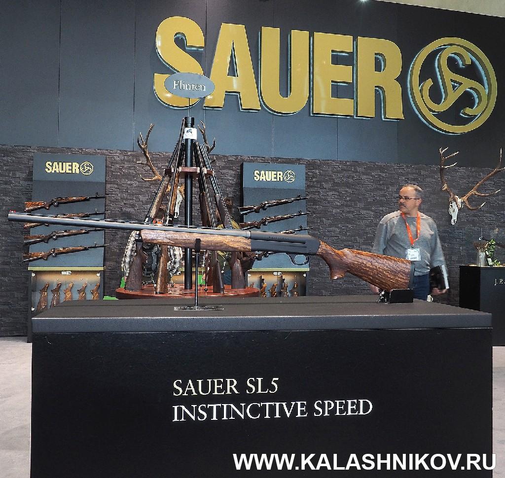 Стенд SAUER SL5 на выставке IWA 2018. Фото из журнала «Калашников»