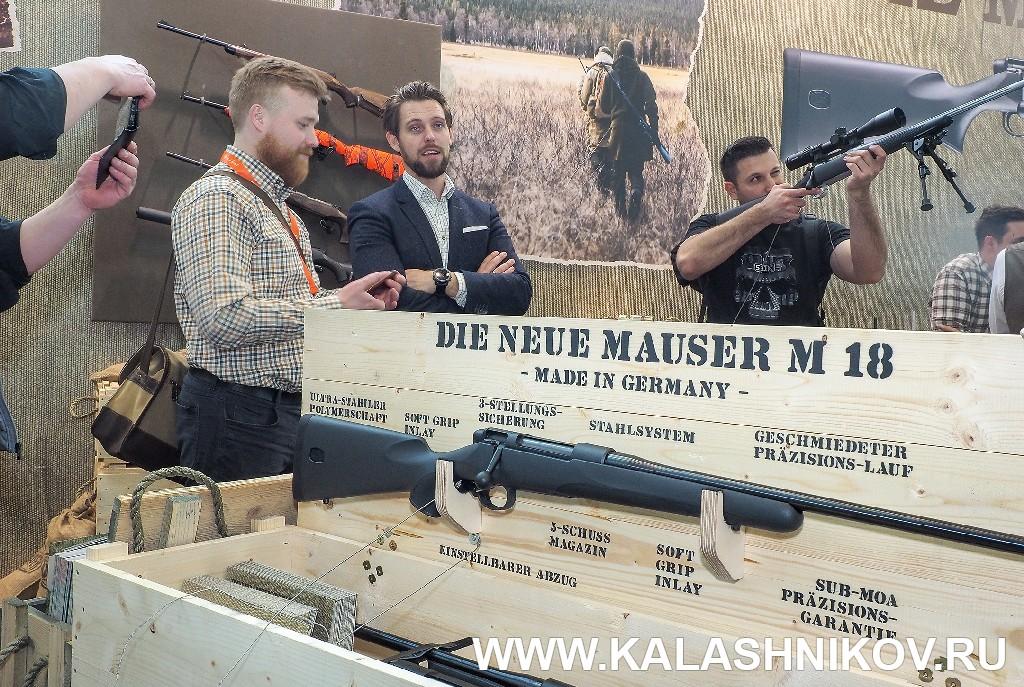 Стенд Mauser M18 на выставке IWA 2018. Журнал «Калашников»