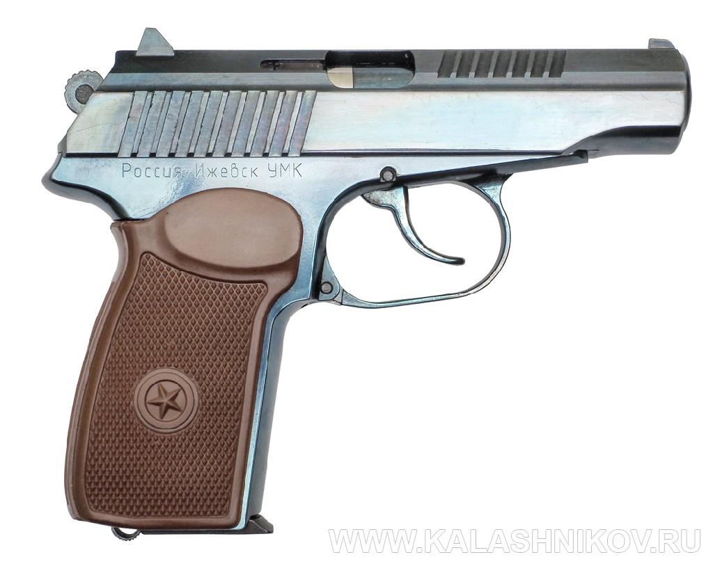 Травматический пистолет П-М17Т вид справа. Журнал «Калашников»
