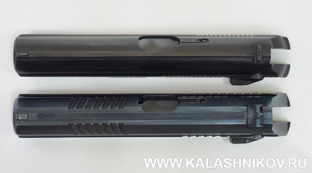 Затворы пистолетов МР79-9ТМ и П-М17Т. Фото: М. Дегтярёв, www.kalashnikov.ru